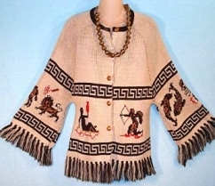 zodiac sweater vintage old