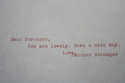 dear strangeer